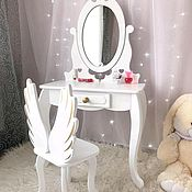 Tables handmade. Livemaster - original item Dressing table console with mirror for children in the children`s room. Handmade.