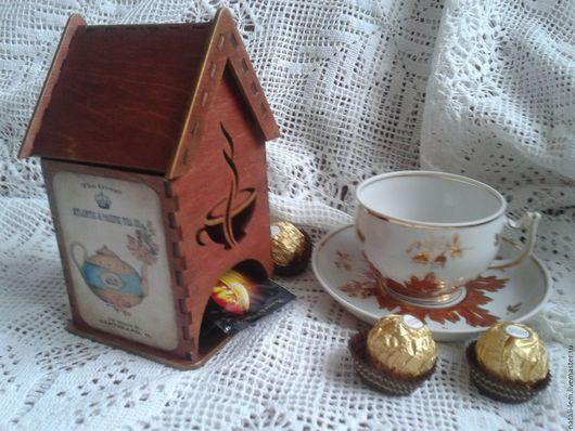 Кухня ручной работы. Ярмарка Мастеров - ручная работа. Купить Винтажный чайный домик Чаепитие. Handmade. Коричневый