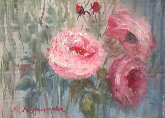 Картины цветов ручной работы. Ярмарка Мастеров - ручная работа. Купить Розы. Handmade. Комбинированный, картина для интерьера, картина с цветами