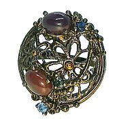 Rings handmade. Livemaster - original item Silver ring with black opal, p. 17. Handmade.