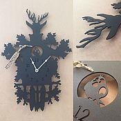 """Часы классические ручной работы. Ярмарка Мастеров - ручная работа Часы 29/41см """"Lugu"""". Handmade."""