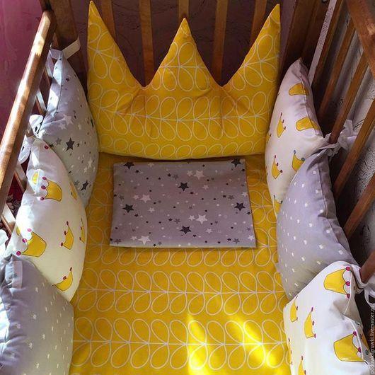 Детская ручной работы. Ярмарка Мастеров - ручная работа. Купить Бортики подушки. Handmade. Комбинированный, бортики в детскую кровать, для девочки