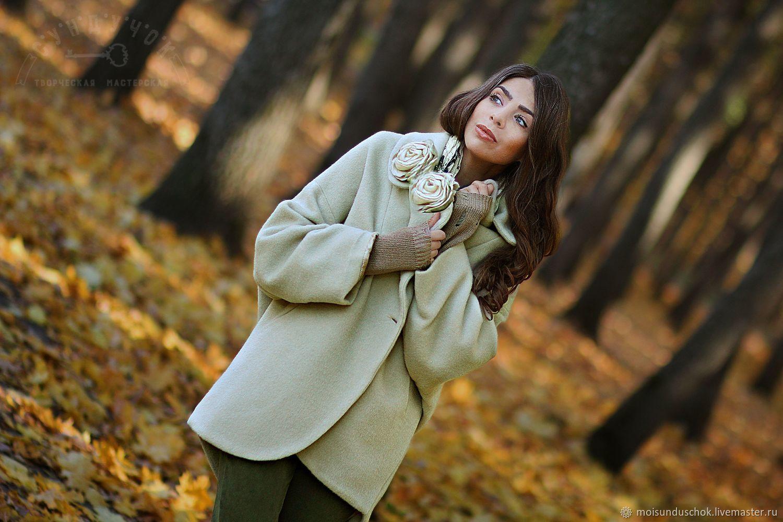 """Пальто из шерсти """" Солнечная дымка"""", Пальто, Курск,  Фото №1"""