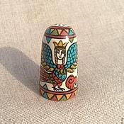 Русский стиль handmade. Livemaster - original item Thimble wood collectible