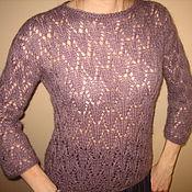 Одежда ручной работы. Ярмарка Мастеров - ручная работа ажурный пуловер туман. Handmade.