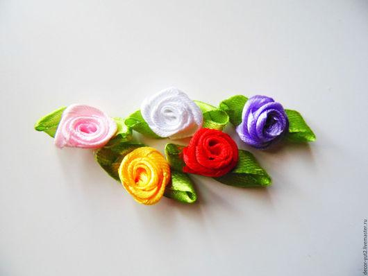 Шитье ручной работы. Ярмарка Мастеров - ручная работа. Купить Розочки шелковые 5 цветов. Handmade. Розовый, красный