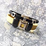 """Браслет из бусин ручной работы. Ярмарка Мастеров - ручная работа Женский кожаный браслет """"New Style """". Handmade."""