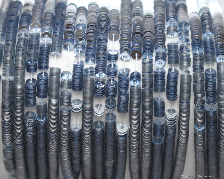 Вышивка ручной работы. Ярмарка Мастеров - ручная работа. Купить Французские пайетки 3 мм металлик 2029. Handmade. Голубой