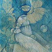 Картины и панно ручной работы. Ярмарка Мастеров - ручная работа Алконост. Сказочная картина. Дева-птица.. Handmade.
