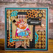 """Открытки ручной работы. Ярмарка Мастеров - ручная работа Открытка для мужчины """"Всё могут короли!"""". Handmade."""