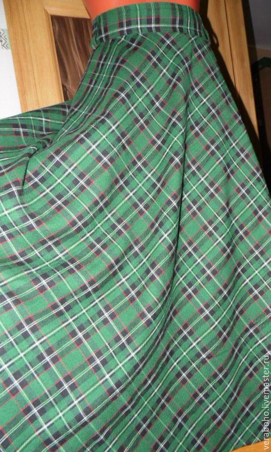 """Юбки ручной работы. Ярмарка Мастеров - ручная работа. Купить Юбку сошью """"Варвара"""". Handmade. Тёмно-зелёный, юбка в клетку"""