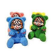 Косметика ручной работы handmade. Livemaster - original item Soap Tiger Cub in pajamas sits handmade as a gift for the New Year 2022. Handmade.