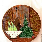 """Тарелки ручной работы. Ярмарка Мастеров - ручная работа Интерьерное блюдо """" Натюрмот с грушами"""". Handmade."""
