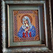 Картины и панно handmade. Livemaster - original item Embroidery.Beads. the virgin of Tenderness.. Handmade.