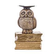 Для дома и интерьера ручной работы. Ярмарка Мастеров - ручная работа Ученая сова. Handmade.