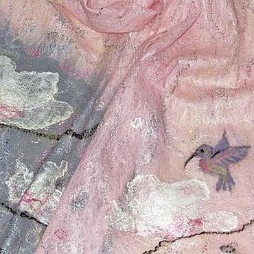 """Аксессуары ручной работы. Ярмарка Мастеров - ручная работа Палантин """"Когда Магнолии цветут"""". Handmade."""