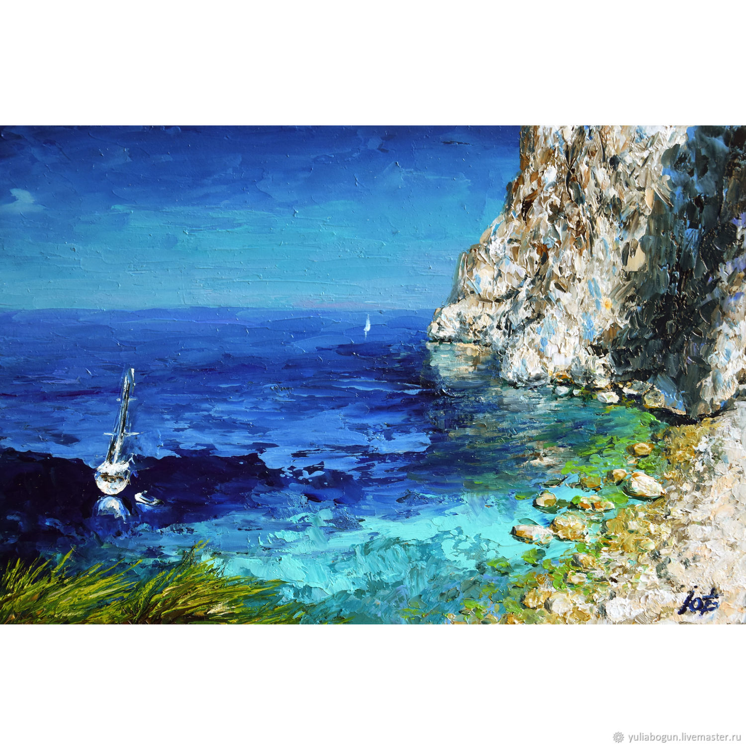 Oil painting seascape ' Off the coast of Greece', Pictures, Belorechensk,  Фото №1