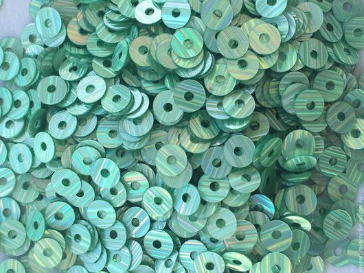 Вышивка ручной работы. Ярмарка Мастеров - ручная работа. Купить Пайетки (15 грамм) 3 мм. Handmade. Зеленый