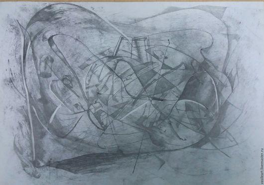 Символизм ручной работы. Ярмарка Мастеров - ручная работа. Купить Внутри сердца. Handmade. Серебряный, чёрно-белый, серый, бумага