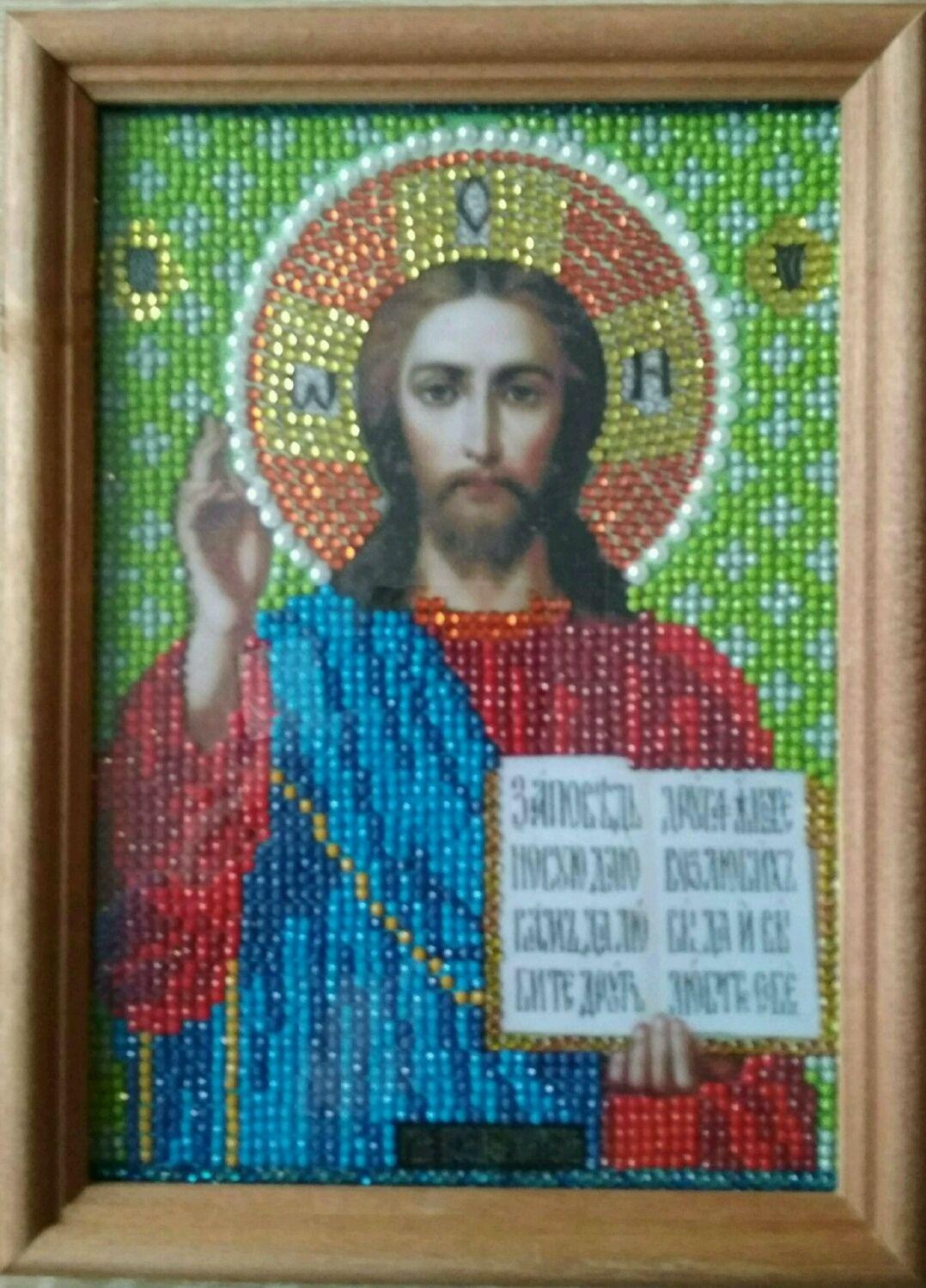 Набор икон среднего размера.Алмазная выкладка, Иконы, Москва,  Фото №1