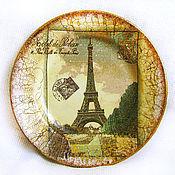 """Посуда ручной работы. Ярмарка Мастеров - ручная работа Тарелка """"Осень в Париже"""". Handmade."""