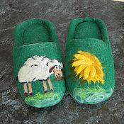 """Обувь ручной работы. Ярмарка Мастеров - ручная работа тапочки """"Лето"""". Handmade."""