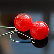 "Earrings handmade. Livemaster - original item Серьги ""Виктория"" лэмпворк. Handmade."