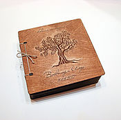 Канцелярские товары handmade. Livemaster - original item Book wishes a photo album in a wooden cover. Handmade.