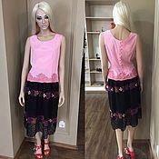 Одежда handmade. Livemaster - original item Silk blouse with lace. Handmade.