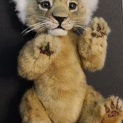 Куклы и игрушки handmade. Livemaster - original item Teddy Animals: lion cub. Handmade.