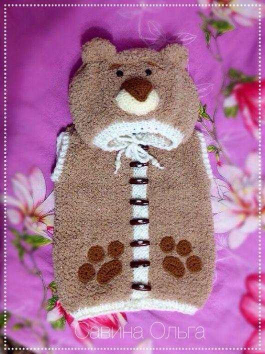 Одежда для мальчиков, ручной работы. Ярмарка Мастеров - ручная работа. Купить Плюшевая жилетка в виде медведя для мальчика.. Handmade.