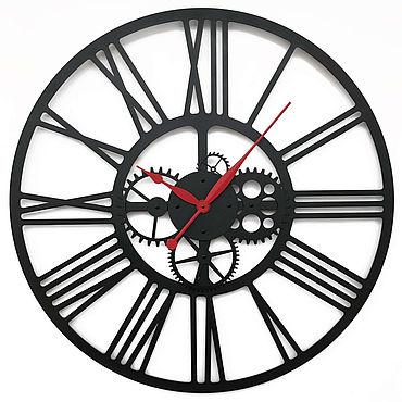 """Для дома и интерьера. Ярмарка Мастеров - ручная работа Часы: Настенные часы 80см """"Kaiku S"""". Handmade."""