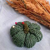 Для дома и интерьера handmade. Livemaster - original item Pumpkin Knitted Home Decor Needle Holder for Halloween Holiday Decor. Handmade.