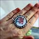 """Кольца ручной работы. Кольцо """"Лилия"""" - флорентийская мозаика, серебро. Izovella. Ярмарка Мастеров. Кольцо ручной работы"""