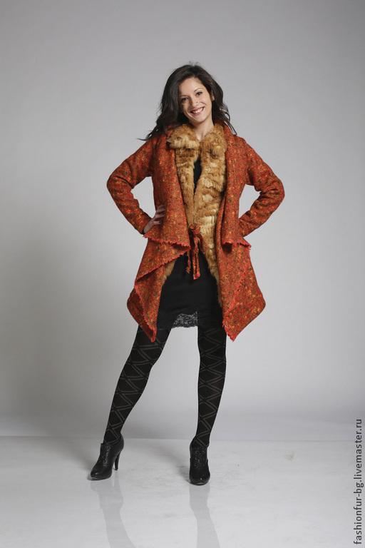 Верхняя одежда ручной работы. Ярмарка Мастеров - ручная работа. Купить Пальто меховое Лисичка. Handmade. Рыжий, мех кролика