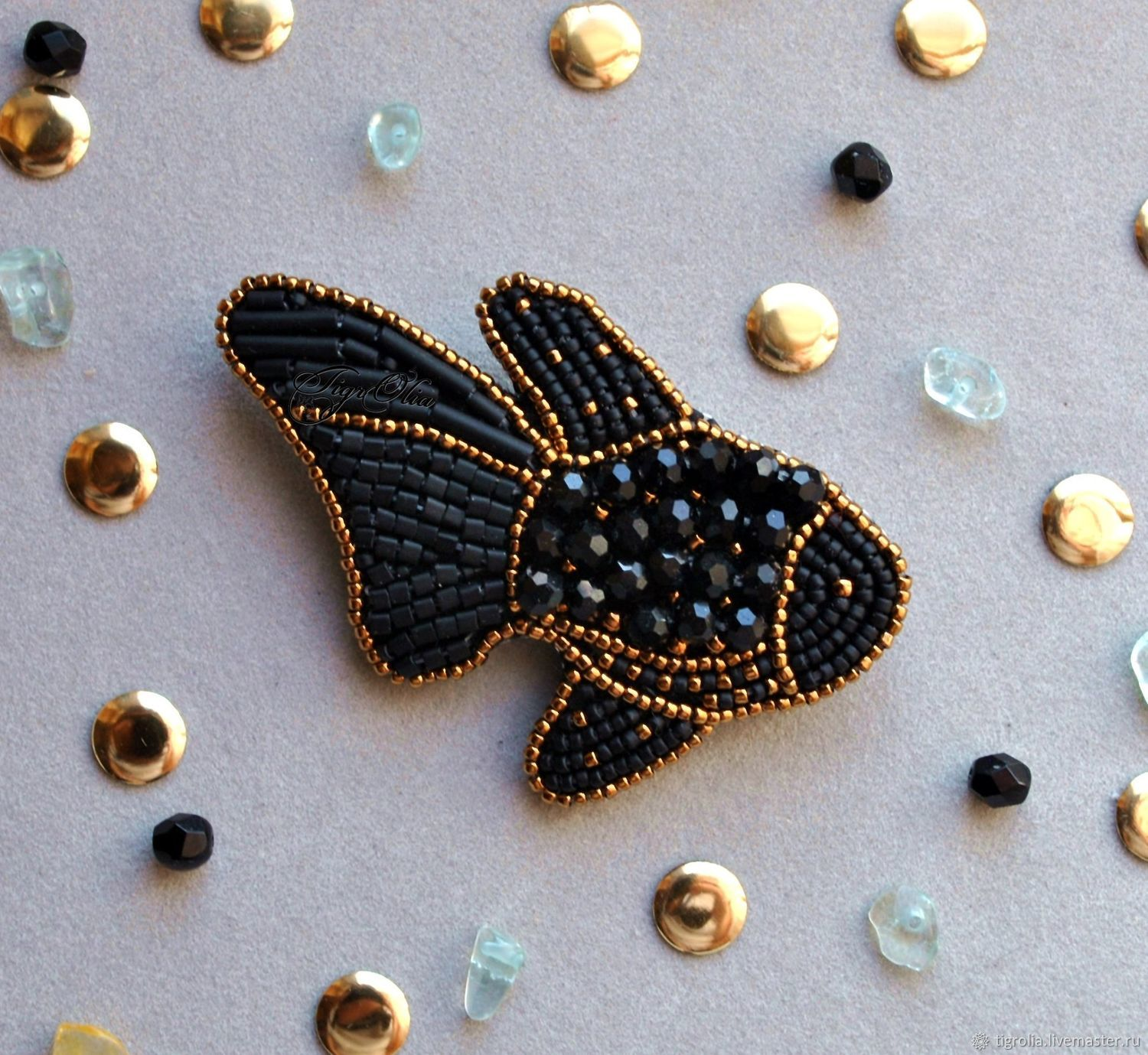 Brooch 'the dweller in the black reef', Brooches, Stupino,  Фото №1