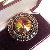Винтаж handmade. Livemaster - original item Brooch rainbow crystal Rivoli Europe vintage. Handmade.