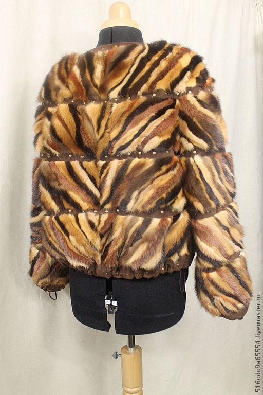 Верхняя одежда ручной работы. Ярмарка Мастеров - ручная работа. Купить Куртка,бомбер из норки. Handmade. Куртка, норковая шуба