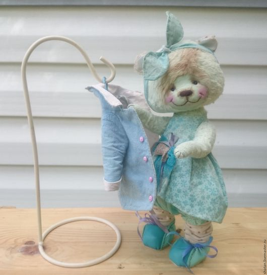 Мишки Тедди ручной работы. Ярмарка Мастеров - ручная работа. Купить мишка тедди Нежная Мята. Handmade. toy, хлопок