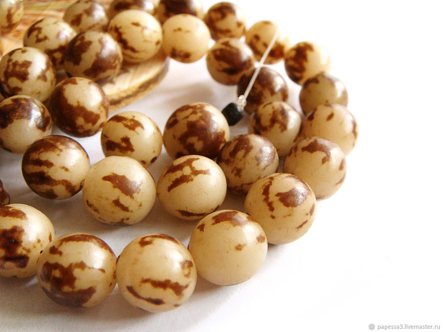 Beads the seeds of palm trees Storms 10mm, Beads1, Bryansk,  Фото №1