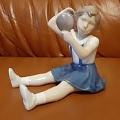 Винтаж handmade. Livemaster - original item B & G Bing und Gröndal Denmark porcelain figurine-Vanity-Children. Handmade.