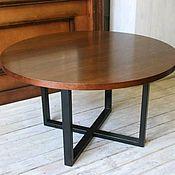 Столы ручной работы. Ярмарка Мастеров - ручная работа Круглый стол в стиле Лофт. Handmade.