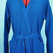Одежда ручной работы. Ярмарка Мастеров - ручная работа кардиган с запахом и карманами. Handmade.