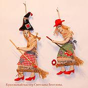 Куклы и игрушки ручной работы. Ярмарка Мастеров - ручная работа авторская игрушка Бабка Ёжка - оберег. Handmade.