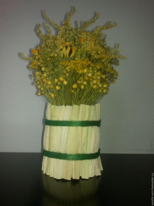 Интерьерные композиции ручной работы. Ярмарка Мастеров - ручная работа. Купить Букет из сухоцветов. Handmade. Желтый, композиция из сухоцветов, цветы