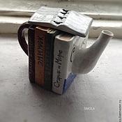 Посуда ручной работы. Ярмарка Мастеров - ручная работа Чайник Любимые книги. Handmade.