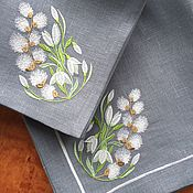 Подарки к праздникам handmade. Livemaster - original item Napkins with Embroidery
