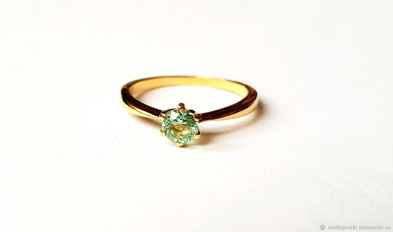 Золотое кольцо с изумрудом, Кольца, Москва,  Фото №1