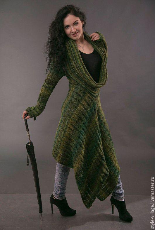 Платья ручной работы. Ярмарка Мастеров - ручная работа. Купить Бохо- платье ,,Эпатаж,,. Handmade. Зеленый, вязаное платье, повседневное