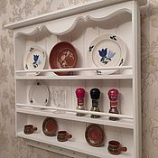 Полки ручной работы. Ярмарка Мастеров - ручная работа Модель 2 Полка для тарелок в стиле прованс. Handmade.